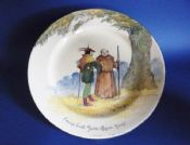 Royal Doulton Under the Greenwood Tree Series 'Friar Tuck Joins Robin Hood' Rack Plate c1928